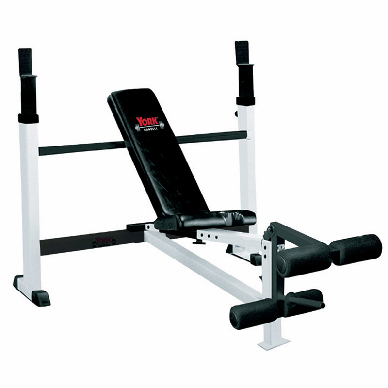 FTS York Olympic Weight Bench W/Leg Developer - Exercise Bench PNG