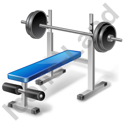 Weight Training Bench Icon, PNG/ICO, 256x256 PlusPng.com  - Exercise Bench PNG