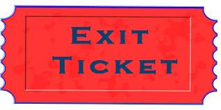 Exit Ticket PNG - 62440