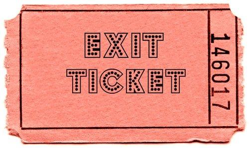 Exit Ticket PNG - 62438