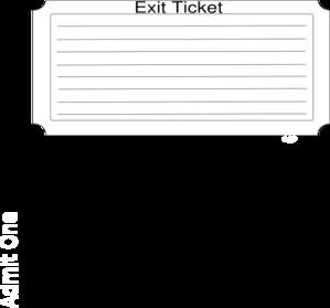 Exit Ticket PNG - 62445