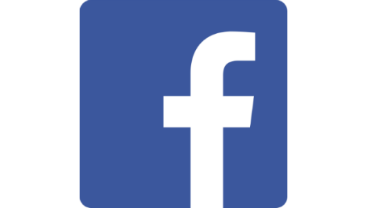 Facebook logo in circular sha