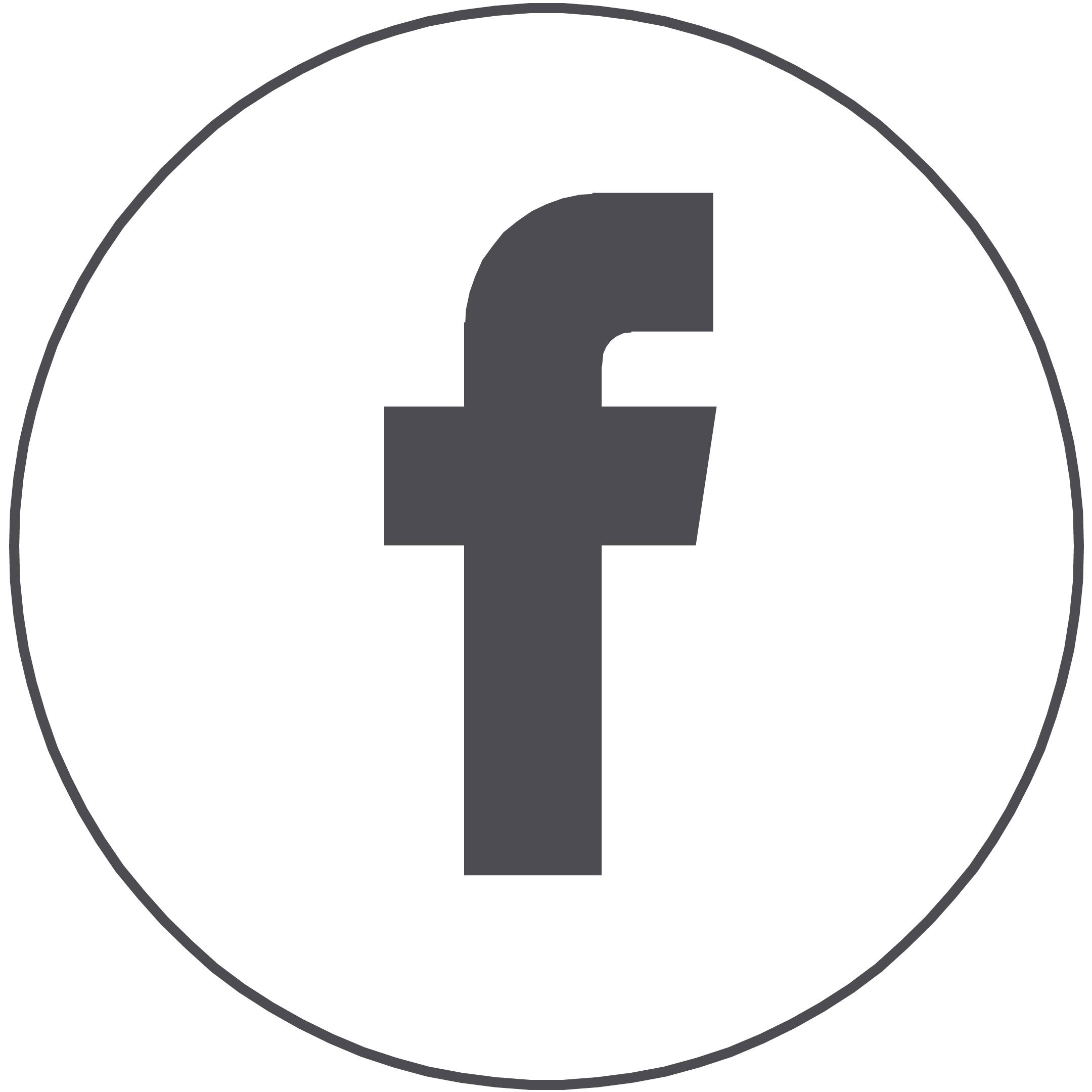 FACEBOOK CIRCLE - Facebook Icon Ai PNG