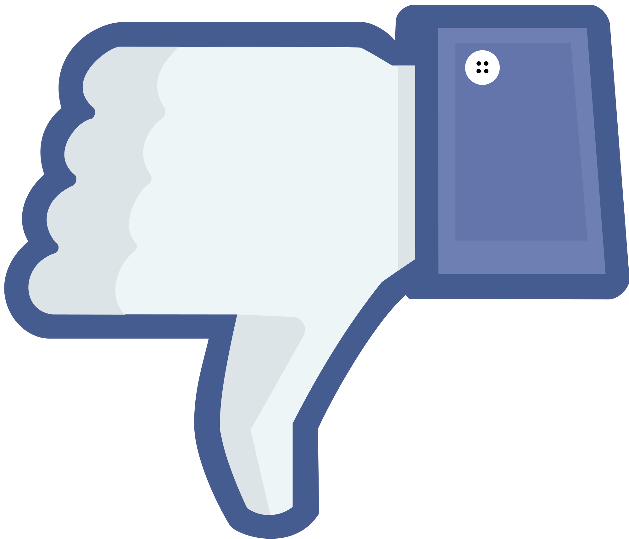 File:Not facebook not like thumbs down.png - Facebook Like PNG