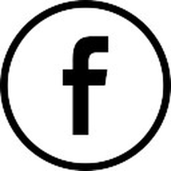 Facebook logo in circular button outlined social symbol - Facebook PNG