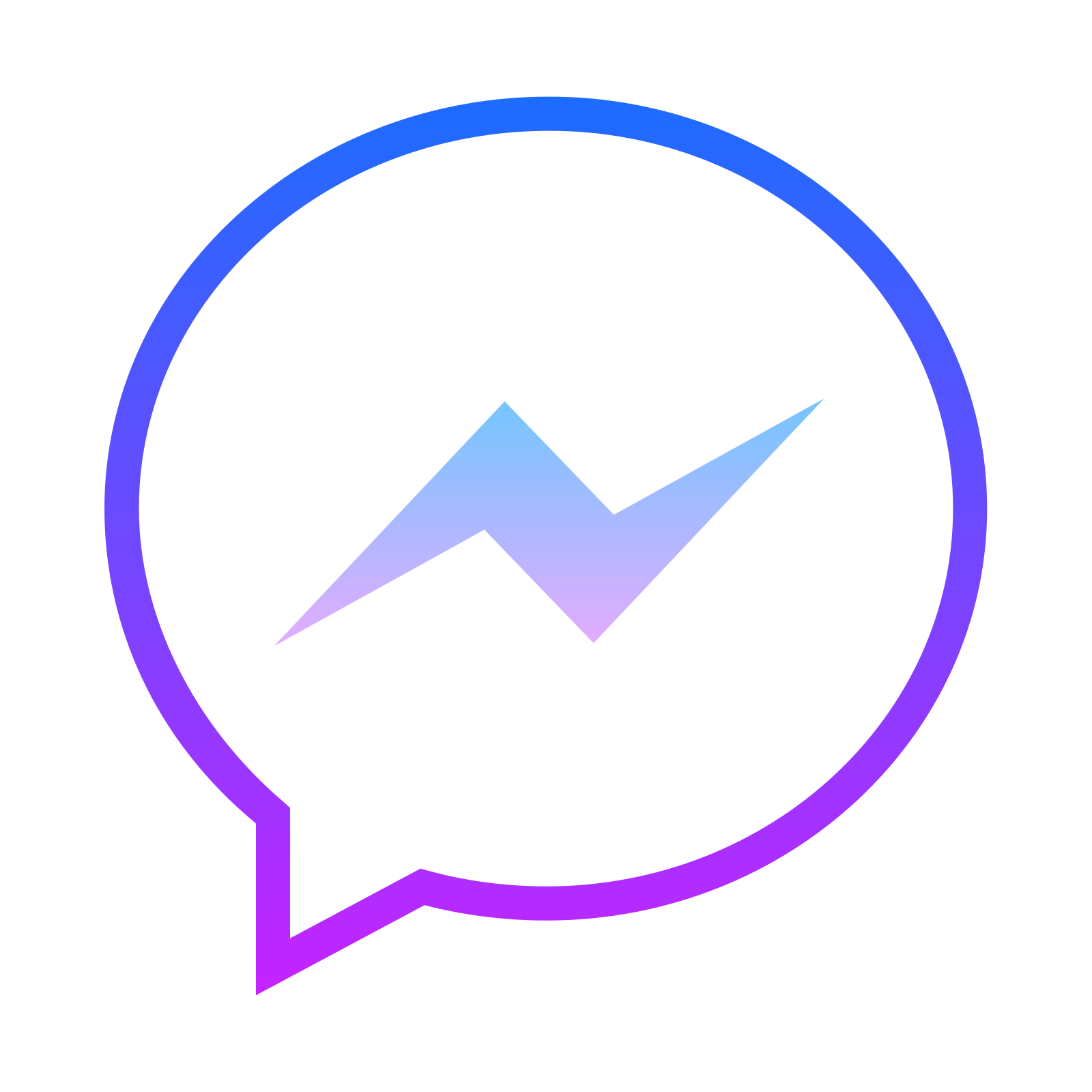 Facebook Messenger Icon App - Facebook Messenger PNG
