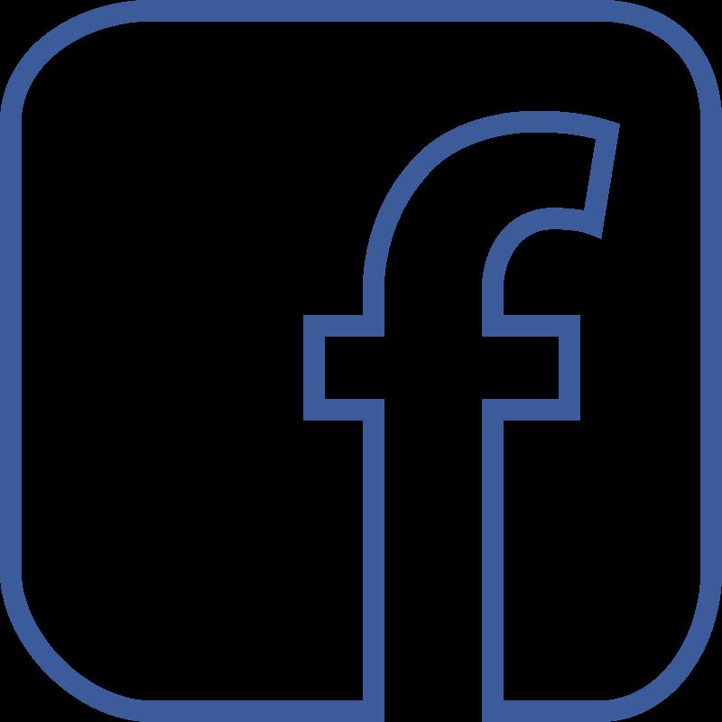 Facebook Outline Transparent Image #38365 - Facebook PNG