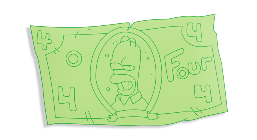 Homeru0027s counterfeit money by WilliamFreeman PlusPng.com  - Fake Money PNG