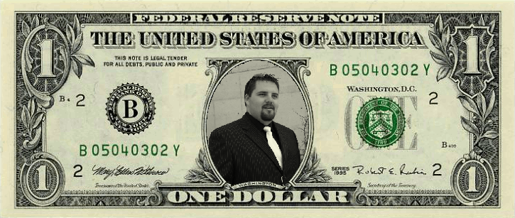 Pimping One Dollar Bill - Fake Money PNG