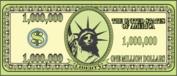 Printable Million Dollar Bill - Fake Money PNG