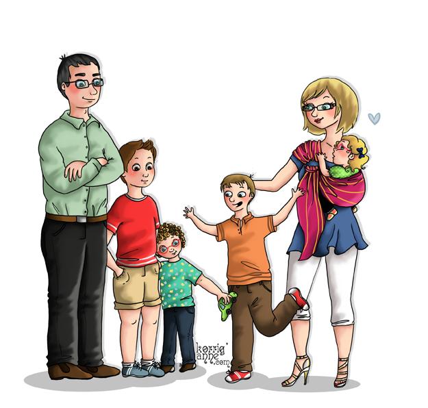 Famille Nombreuse PNG
