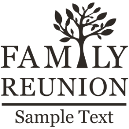 Family Reunion Design Family Reunion Family Tree with Sample Text - Family Reunion PNG