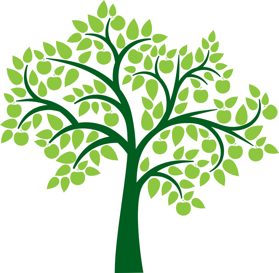 Family Tree Genealoy And Backgrounds Clipart - Family Reunion Tree PNG