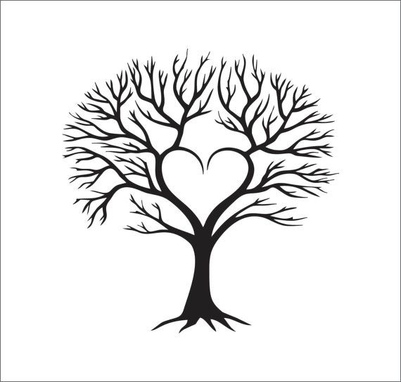 Tree Heart Family Vector Instant Digital By ShoogzSensations More - Family Reunion Tree PNG