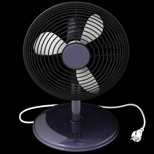 Black Fan Icon 512x512 Png - Fan PNG