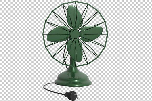 Table Fan - 3D Render PlusPng.com  - Fan PNG