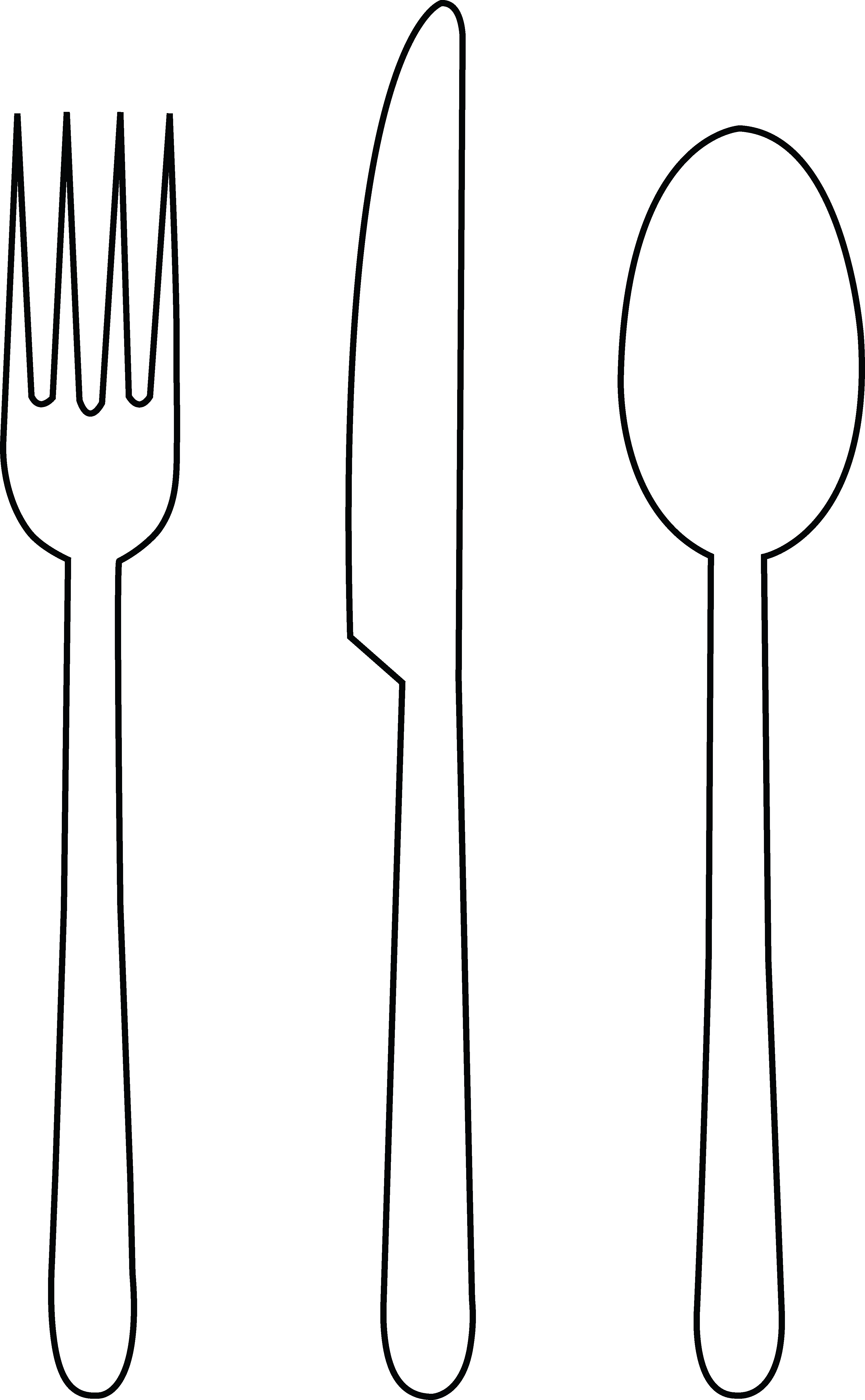 Fancy Fork Clipart Black And White · Fork Spoon And Knife Clipart - Fancy Fork PNG Black And White