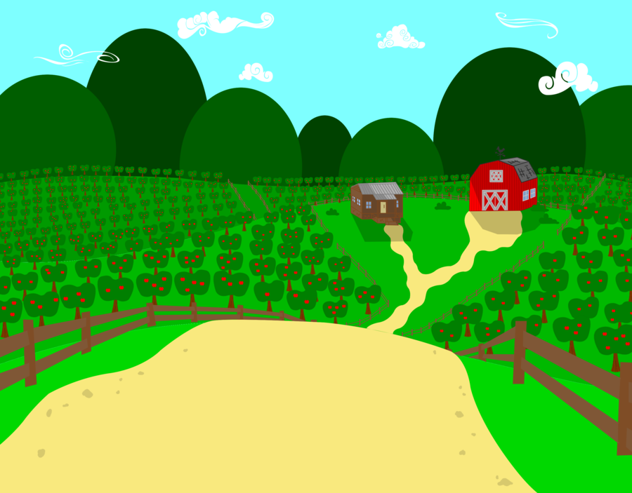 Apple farm background by BigR