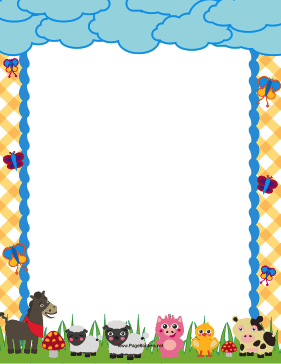 Free farm border templates in