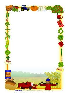 Harvest-themed A4 page borders (SB2855) - SparkleBox - Farm Border PNG
