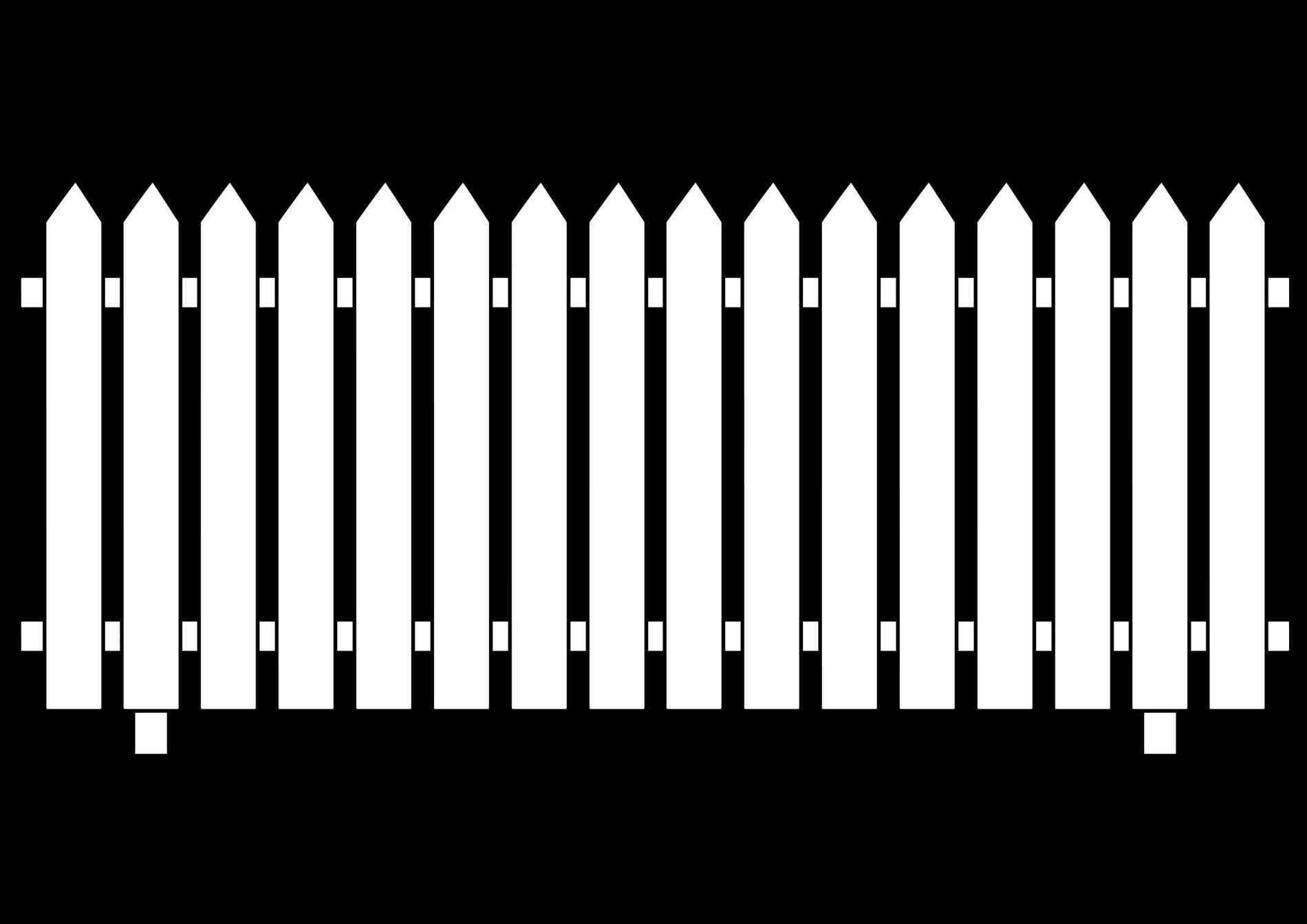 Farm Fence PNG Black And White - 149936
