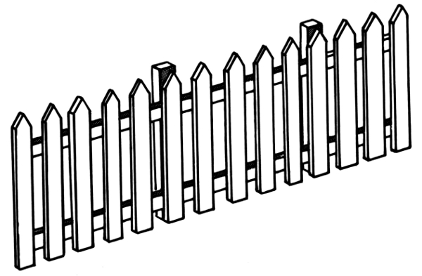 Fence Clipart Black And White