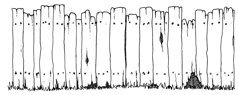 . PlusPng.com Wooden Fence Clipart Black And White PlusPng.com  - Farm Fence PNG Black And White