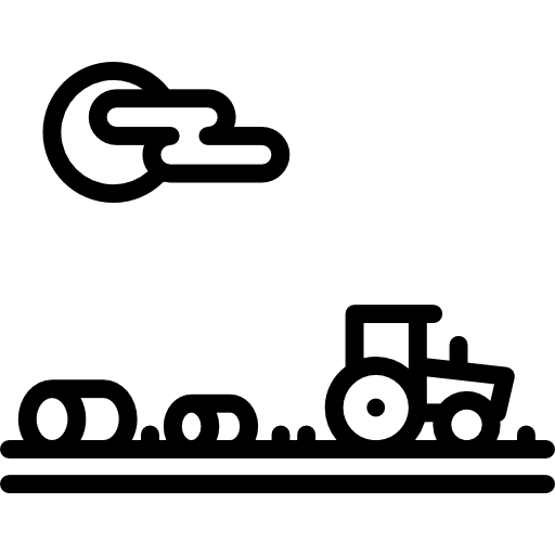 Farm, field, house · Black. 512x512. PNG SVG PlusPng.com  - Farm Fields PNG Black And White