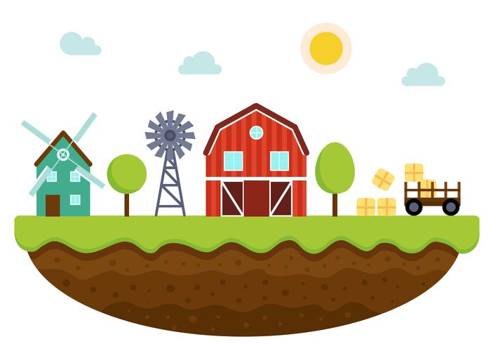 Free Farm Vector - Farm House PNG HD