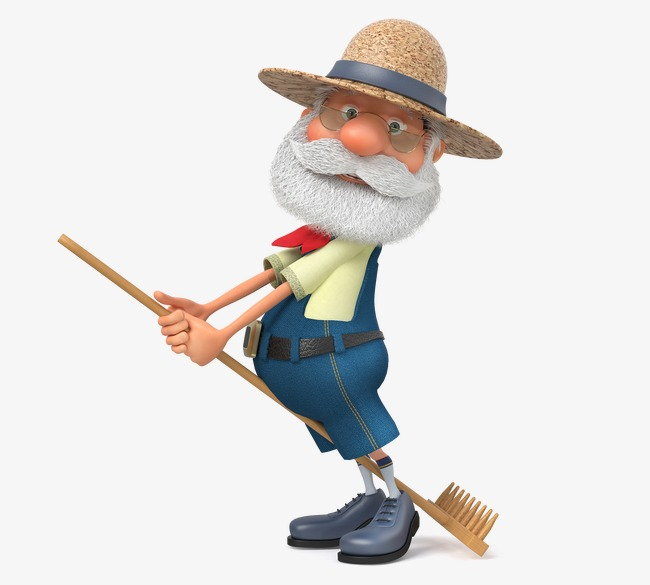 Cartoon character design HD farmers, Old People, 3d Character, Cartoon  Shovel Free PNG and PSD - Farmer PNG HD Images