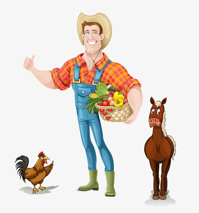 Cartoon Farmer Png, Vectors, PSD, and Icons for Free Download | pngtree - Farmer PNG HD Images