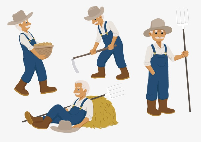 Vector farmer uncle, HD, Vector, Rice Free PNG and Vector - Farmer PNG HD Images