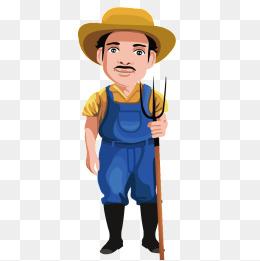 Vector farmer uncle, Jobs, Character, Cartoon Characters PNG and Vector - Farmer PNG HD Images
