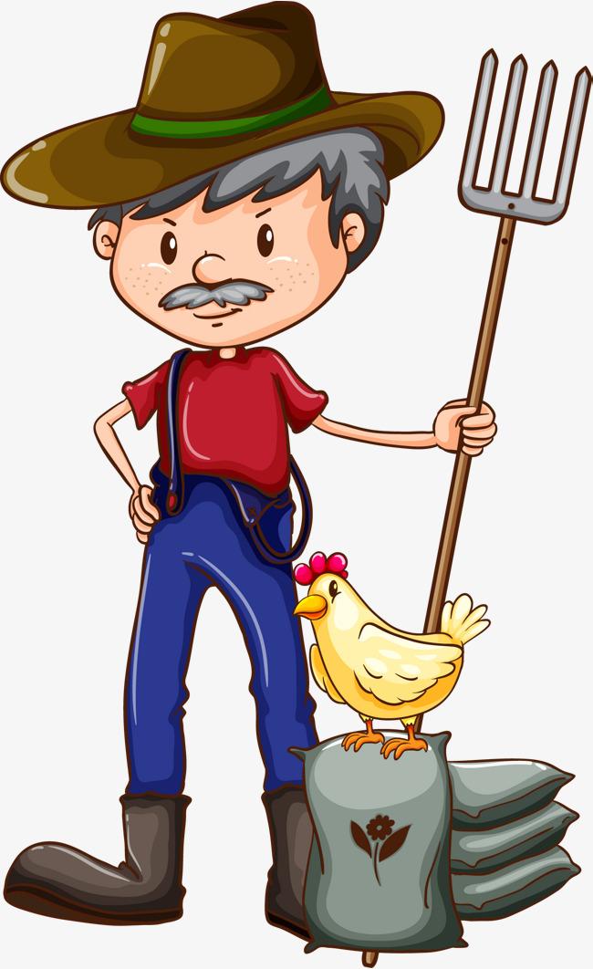 Vector hand-painted cartoon farmers, Vector, Hand Painted, Cartoon PNG and  Vector - Farmer PNG HD Images