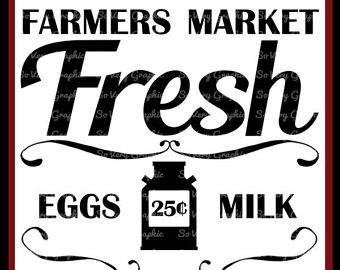Farmers Market Fresh | Cutting u0026 Printable File | Digital Instant Download  | svg | eps - Farmers Market PNG HD