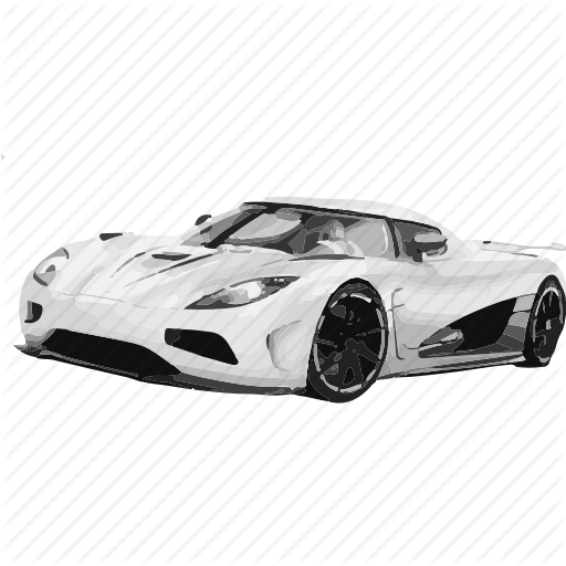 Fast Car PNG Black And White - 147665