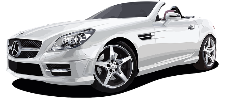 Fast Car PNG Black And White - 147659