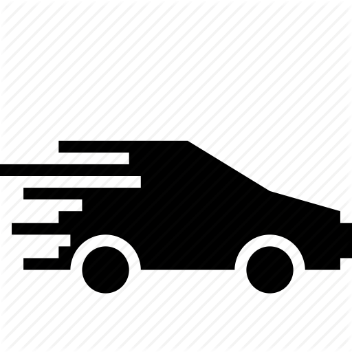 Fast Car PNG Black And White - 147666