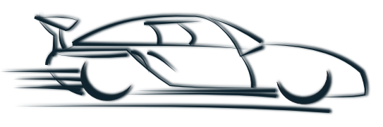Fast Car PNG Black And White - 147650