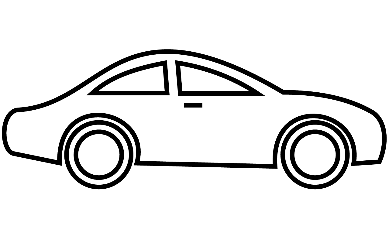 Fast Car PNG Black And White - 147654