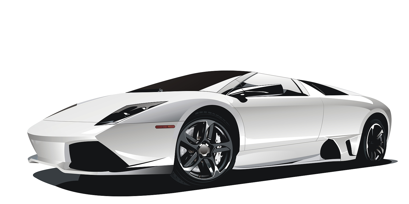 Fast Car PNG Black And White - 147652