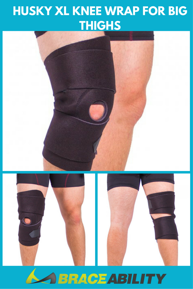 0e0e2cd5af Knee Brace for Overweight and Obesity Knee Pain. This plus size knee wrap  for big legs and large thighs provides kneecap pain relief to