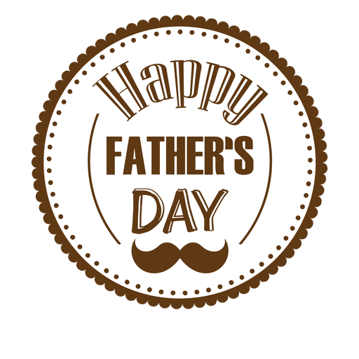 Happy fathers day round badge png - Fathers Day HD PNG