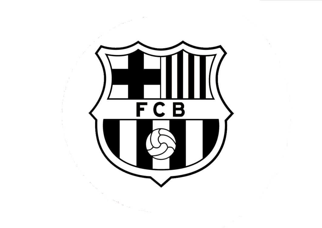 FC Barcelono Black And White Logo - Fcb HD PNG