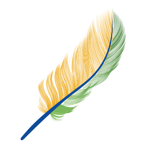 Brazil flag feather png - Feather HD PNG