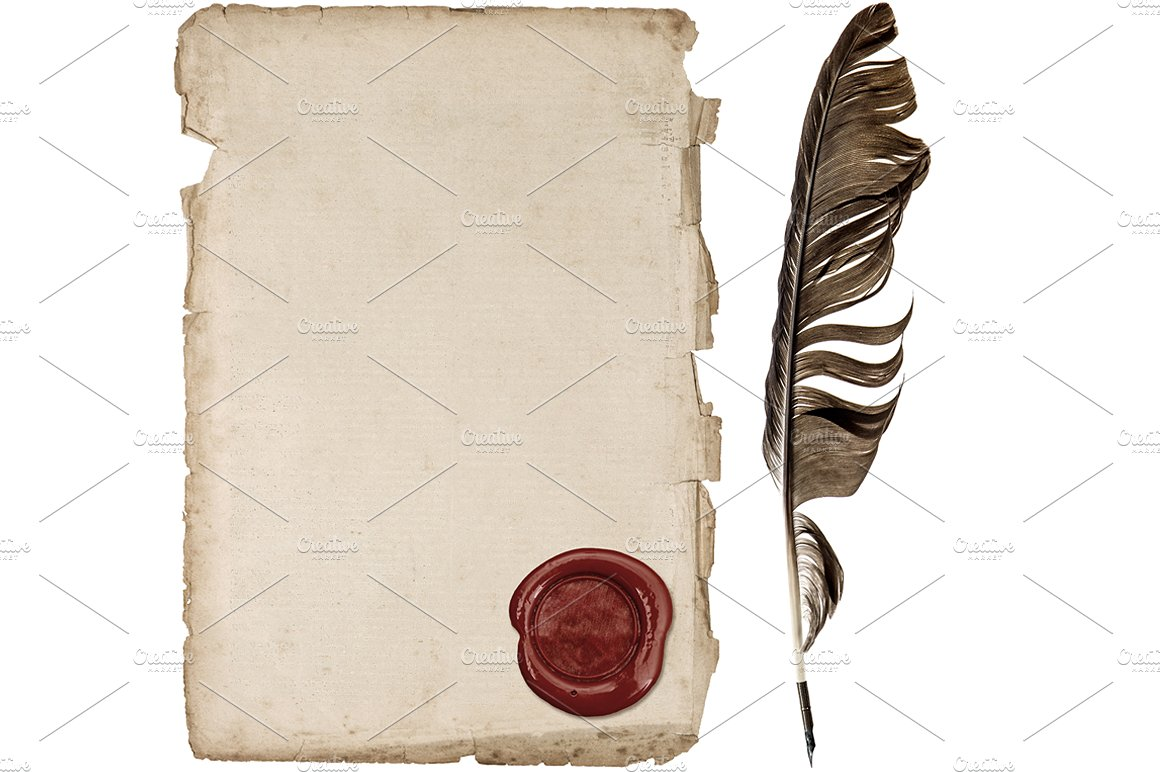 Feather Pen And Paper PNG - 72590