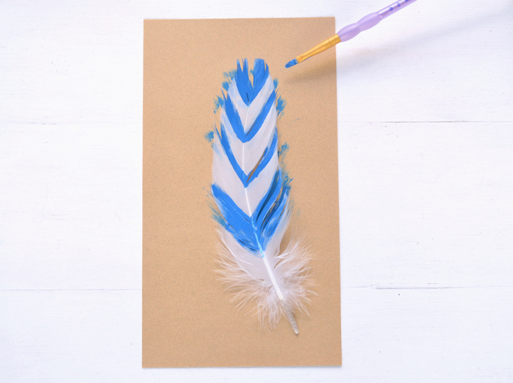 Place a feather on the scrap paper. Apply acrylic paint to sections of the  feather. Thereu0027s no right or wrong way to do this u2014 add paint wherever you  want PlusPng.com  - Feather Pen And Paper PNG