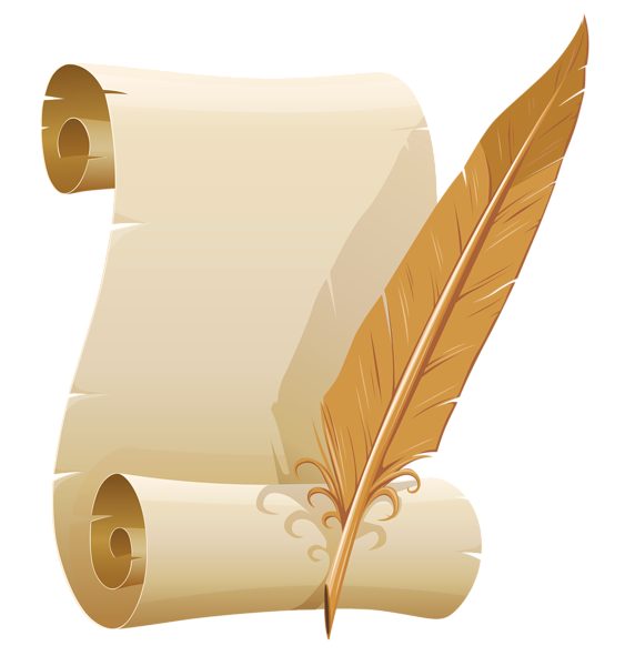 Feather Pen And Paper PNG - 72580