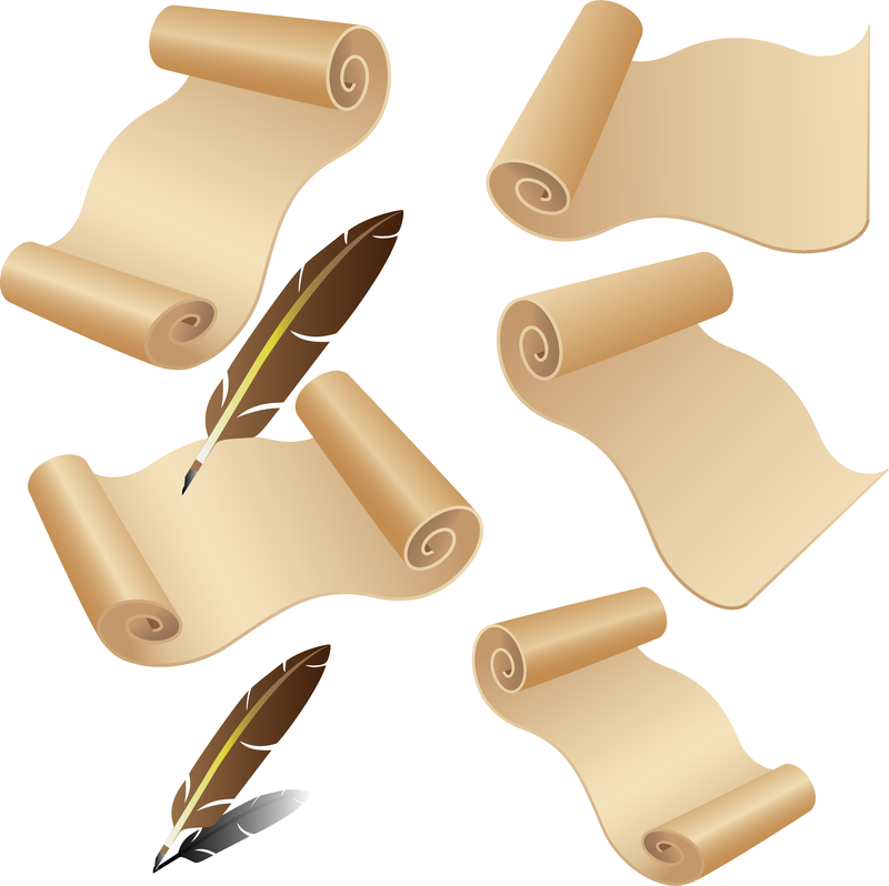 Vector Old Paper Quill Pen. Download Large Image 800x798px - Feather Pen And Paper PNG