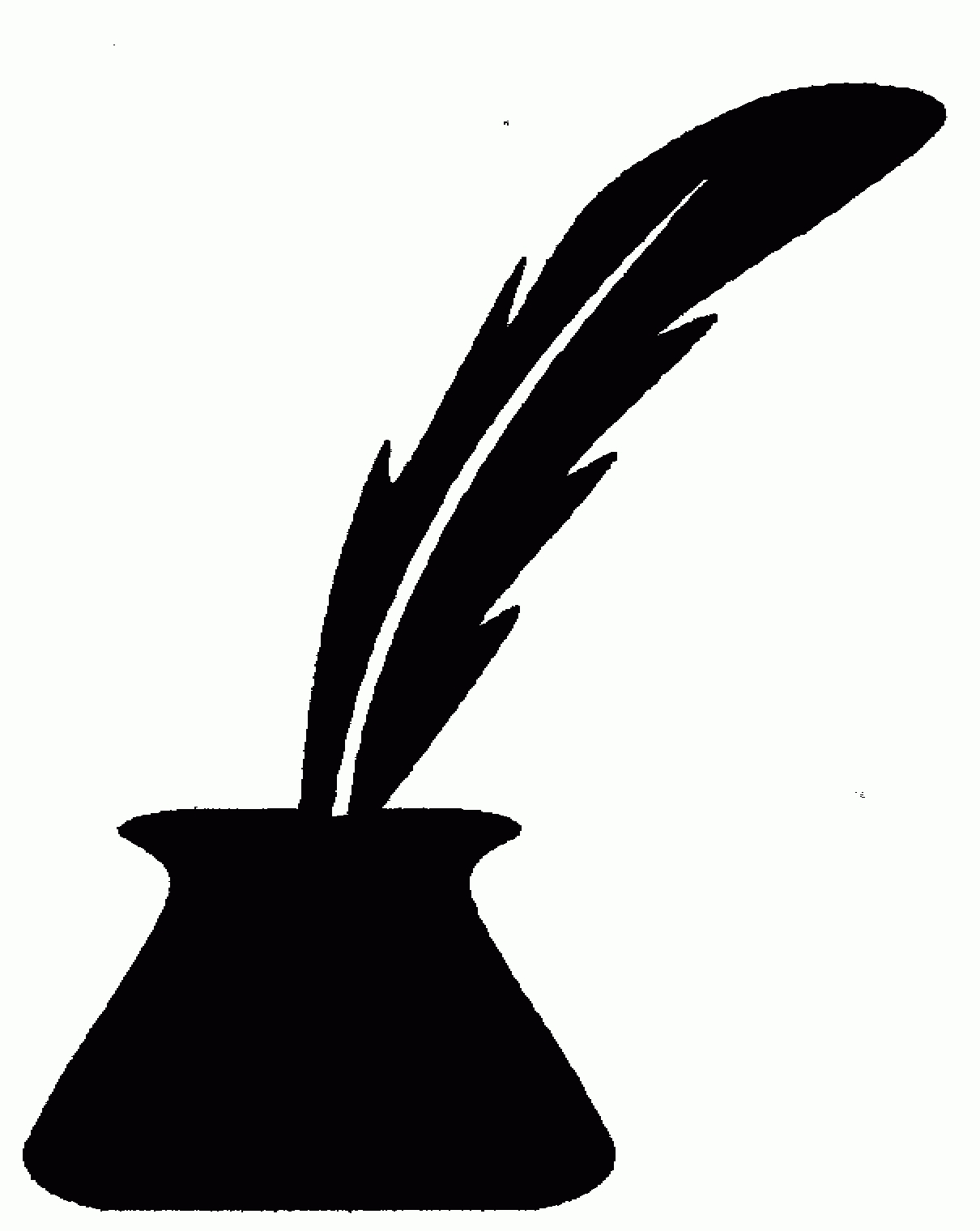 Feather Pen Clipart Free Clipart Images Image 2 - Clipartix Pertaining To Feather  Pen Clipart Png - Feather Pen PNG Black And White